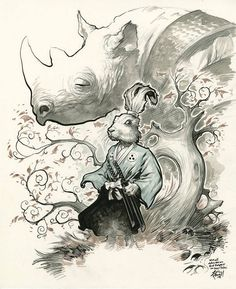 Beautiful Usagi Yojimbo Fan Art by Eric Powell — GeekTyrant