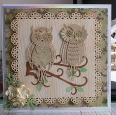 Two Tattered Lace owl cards by: jennyann Love the owls!!