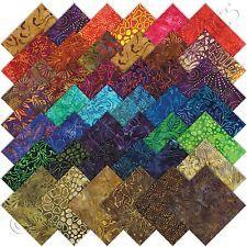 "Moda Tiger Lily Batiks Charm Packs 42 5x5"" Precut Cotton Quilt Quilting Squares"