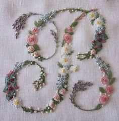 Brazilian Embroidery Stitches, Embroidery Hoop Crafts, Floral Embroidery Patterns, Embroidery Letters, Embroidery Stitches Tutorial, Hardanger Embroidery, Silk Ribbon Embroidery, Hand Embroidery Designs, Embroidery Kits