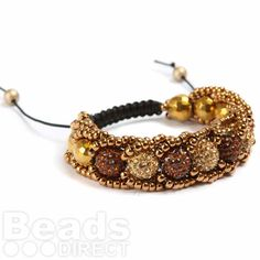 Seed Bead Shamballa Fashion Bracelet  This looks gorgeous - I much prefer it to the traditional shamballa style bracelets