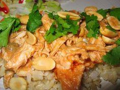 Thai peanut chicken in the crockpot!