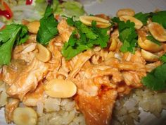 Slow Cooker Thai peanut chicken..