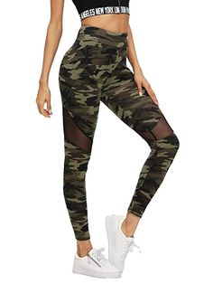 Make a fashion statement with multicolor mesh insert camo print leggings. Woman's camo prints athleisure leggings are not only stylish but comfortable to wear for a workout and all daily outdoor activities. Camo Leggings, Sheer Leggings, Leggings Sale, Printed Leggings, Leggings Fashion, Yoga Leggings, Yoga Pants, Tights, Mesh Insert Leggings