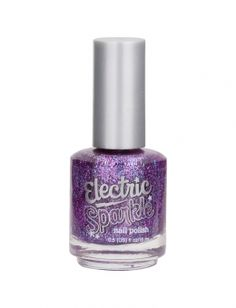 Electric Sparkle (Justice brand) Purple Nail Polish