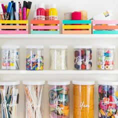 Diy colorful home organization - sarah hearts. diy colorful home organization - sarah hearts craft room decor, craft room storage Craft Room Storage, Home Office Organization, Wall Storage, Craft Organization, Paper Storage, Organizing Ideas, Craft Storage Solutions, Organizing Office Supplies, Craft Storage Ideas For Small Spaces