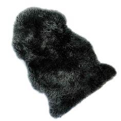 Teppich Schaffell ca L:85-94cm, grau
