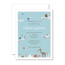 Woodland Wonder: Peppermint Baby Shower Invitations