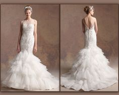 Wedding dress layers mermaid