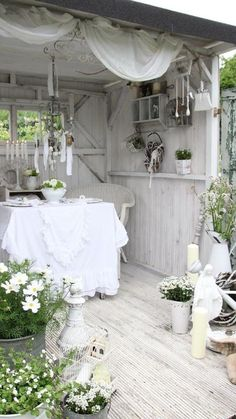 shabby chic garden ideas - Google Search