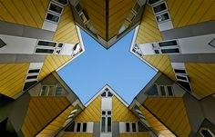 Kubus, designed by architect Piet Blom. The houses in Rotterdam, attached to each other. Rotterdam, Architecture Details, Interior Architecture, Best Architects, Amazing Buildings, Luxury Holidays, Netherlands, Building A House, Around The Worlds