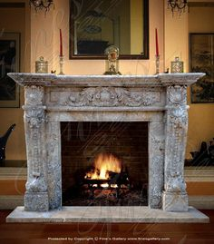 This Luxurious Fireplace Mantel Creates Lasting Impressions Of Classical  Elegance. Each Carefully Sculpted Detail Adds