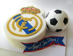 Football cake Real Madrid Más