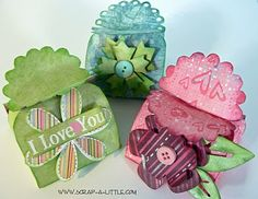 Tutorial for Favor Box.  Super cute and simple with a pattern you can print!