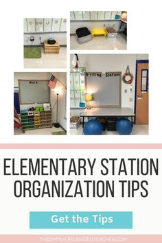 Setup and organize your math and reading centers with the tips shared by The Simply Organized Teacher. Learn how to store math center materials that are not being used as well as how to organize reading station materials for ease of access. Guided Reading Organization, Library Organization, Organization Hacks, Reading Centers, Literacy Centers, Organized Teacher, First Year Teachers, Classroom Setup, Teacher Hacks