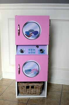 DIGITAL DOWNLOAD Laundry Center Decals For DIY Play от Printatoy