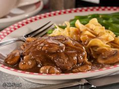 NO FUSS SALISBURY STEAK: ~ From Mrfood.com ~ Can you guess some of the reasons we love this recipe so much? We love it not only because it's delicious, but also because it's no stress and no fuss! This No Fuss Salisbury Steak is easy and delicious- our kind of recipe! Serves: (4) Cooking Time: 35 min