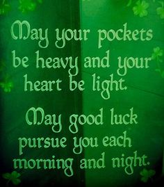 Best 22 Irish Sayings about Luck