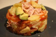 Ensalada templada de patata y pavo trufado