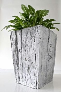 Make concrete planters