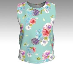Floral Print Tank Top Floral Shirt Summer Tank Top Hand