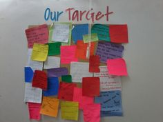 Like post-it in large size, my students target in 1st semester.