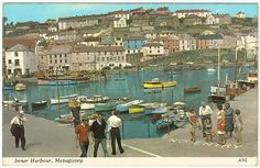 Mevagissey - Inner Harbour Postcard 1969 And some interesting facts.