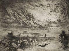 Félix Buhot, Les Esprits des Villes Mortes, 1886 Etching, aquatint and drypoint