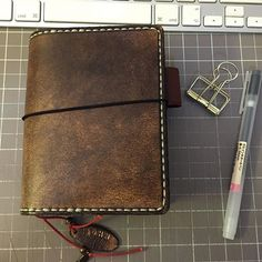 Ordered!    Notebook by Morgan Le Fae's Trinkets in colour coffee latte, passport size. Think this is my preferred colour!  Photocredit: @JohnRush