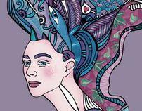 Queen by Sofia Gritsyuk, via Behance