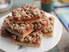 Get Rhubarb Jam Bars Recipe from Food Network