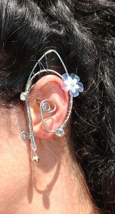 fairy ear cuff  elven earring ear wrap by Inmyfairygarden on Etsy,
