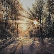 """""""The Beginning of the Year"""", oil, canvas, 100х70"""