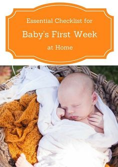 Friday We're In Love: The First Weeks After Baby Essentials Checklist: The baby items you really need when you get home from the hospital