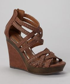 Take a look at the Tan Monaly Wedge Sandal on #zulily today!