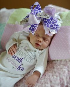 Baby Girl Layette Gowns | Princess Worth Waiting For Layette Gown