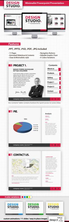 Minimalist Powerpoint Template  #blue #modern • Click here to download ! http://graphicriver.net/item/minimalist-powerpoint-template/288700?s_rank=358&ref=pxcr