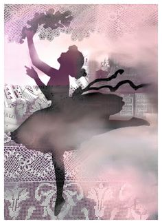 Mixed Media Collage Print Tiny Dancer