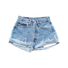 THE DENIM CORNER ($69) ❤ liked on Polyvore featuring shorts, bottoms, pants, cut-off jean shorts, denim shorts, denim cutoff shorts, distressed shorts and frayed jean shorts