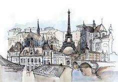Paris city sketch