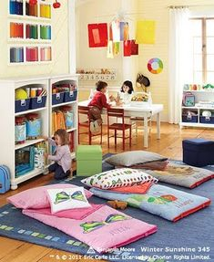 oh to have space for everything...playroom, craft area, school room, reading area