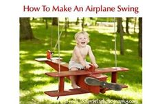DIY: How to make an airplane swing Hand make this for your kiddos! Diy For Kids, Cool Kids, Crafts For Kids, Outdoor Projects, Wood Projects, Cool Swings, Wood Crafts, Diy Crafts, Diy Projects To Try