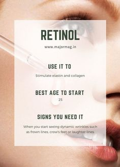 Why Retinol Deserves a Spot in Your Skincare Routine Tips Raw Skincare Regimen Beauty Care, Beauty Skin, Beauty Tips, Diy Beauty, Beauty Hacks, Beauty Products, Face Beauty, Homemade Beauty, Beauty Secrets
