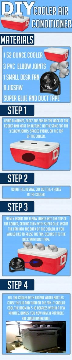 DIY Portable Air Conditioner from Starling Travel, amazing if you are like me and don't have air conditioning in the house - ruggedthug