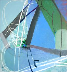 """Amy Sillman - Schmetterling. Caption reads: """"Ms. Sillman's fight for every line is reminiscent of Matisse."""""""