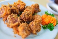 Deep Fried Eggplant, Penang, Malaysia | @maskofchina