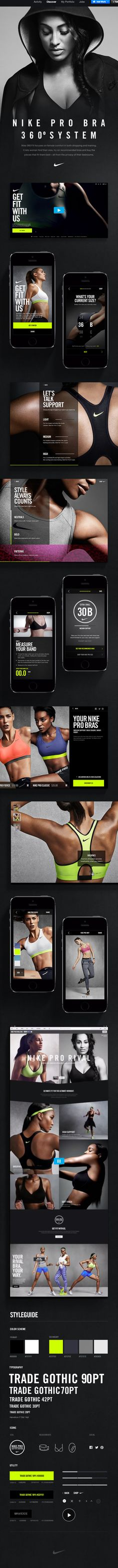 Nike #ui #interface #web #mobile
