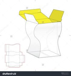 Custom Amphora Box With Die Line Template Stock Vector Illustration 320389304 : Shutterstock