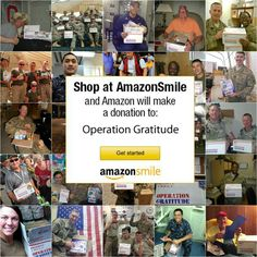 Amazon will donate 0.5% of the price of your eligible AmazonSmile purchases to Operation Gratitude when you shop at AmazonSmile. Go to: http://smile.amazon.com -- select Operation Gratitude as the charity to support and shop! Your purchases will help support the troops!