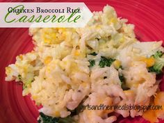 Chicken Broccoli Rice Casserole - this is so good! And super easy! I served one pan for dinner and froze one for later.